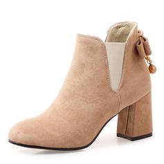 Femmes Suède Talon bottier Bottes Bottines avec Bowknot chaussures