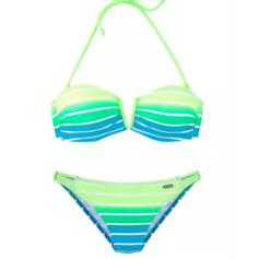 Stripe Splice color Push Up Halter Sexy Boho Bikinis Swimsuits