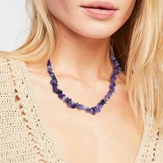 Hermoso De moda Simple Piedra Natural De mujer Collares