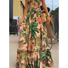 Impresión/Floral Sin mangas Acampanado Camisón Casual/Vacaciones Maxi Vestidos