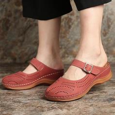 De mujer PU Tacón plano Planos con Hebilla zapatos