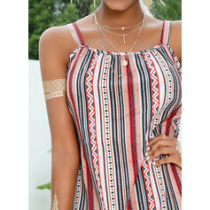 Print/Striped Sleeveless Shift Above Knee Casual/Vacation Slip Dresses