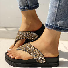 Women's PVC Flat Heel Sandals Peep Toe Slingbacks Flip-Flops With Rhinestone shoes