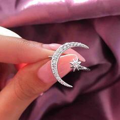 Shining Boho Alloy With Star Moon Rhinestones Rings