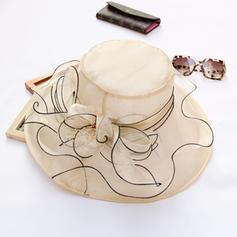 Dames Style Classique/Fait main Batiste/Organza avec Bowknot Chapeaux de plage / soleil