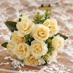 12'' Rose Silk Plastic Bouquets