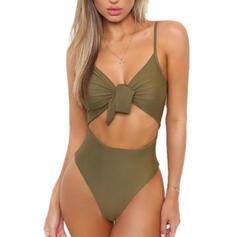 Monokini Schnur Träger Sexy Badeanzüge Badeanzüge