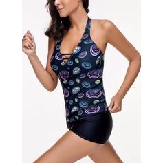Colorato A bikini Elegante Taglia grossa Tankini Costumi Da Bagno