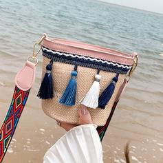 Charming Straw Crossbody Bags/Beach Bags/Bucket Bags