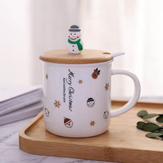 Christmas Ceramic Aluminum Coffee Mugs