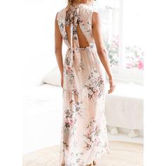 Floral Sleeveless Shift Maxi Casual/Boho/Vacation Dresses