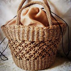 Elegant Paper Rope Beach Bags/Bucket Bags