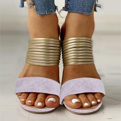 Mulheres Camurça Sem salto com Oca-out sapatos