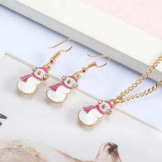Unique Shining Alloy With Rhinestone Jewelry Sets Christmas Jewelry (Set of 2)