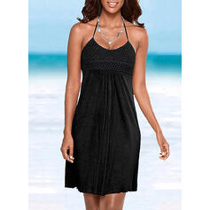 Solid Sleeveless Sheath Above Knee Casual/Vacation Dresses