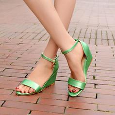 Femmes Similicuir Talon compensé Escarpins Compensée avec Boucle chaussures