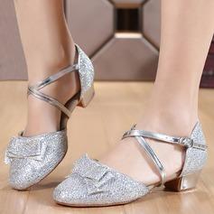 Women's Ballroom Heels Sandals Sparkling Glitter Latin
