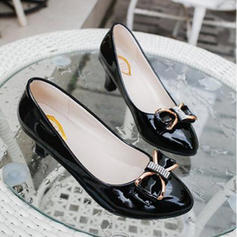 Femmes PU Talon bas Escarpins avec Bowknot chaussures
