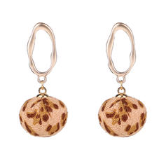 Stylish Cloth Alloy Women's Fashion Earrings (Set of 2)