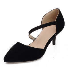 Women's Suede Stiletto Heel Sandals Pumps Closed Toe With Others shoes