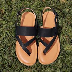 Mulheres PU Sem salto Sandálias Chinelos com Oca-out sapatos