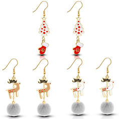Sika Deer Alloy Earrings Christmas Jewelry