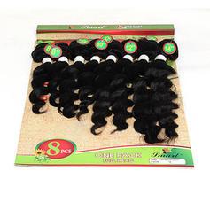 Deep Synthetic Hair Human Hair Weave 8pcs