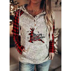 Tierdruck Figur Lange Ärmel Weihnachts-Sweatshirt