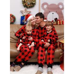 Καρό ύφασμα Οικογένεια Εμφάνιση Χριστουγεννιάτικες πιτζάμες