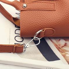 Solid Color PU Tote Bags/Shoulder Bags/Bag Sets/Wallets & Wristlets