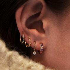 Fashionable Boho Alloy With Rhinestones Earrings 4 PCS