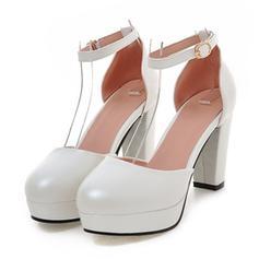 Naisten Keinonahasta Chunky heel Avokkaat Platform kengät