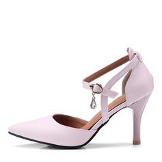 Frauen PU Stöckel Absatz Absatzschuhe mit Schnalle Pelz Schuhe