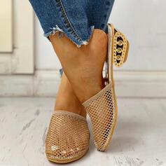 Femmes Tissu Talon bottier Escarpins Bout fermé avec Ouvertes chaussures