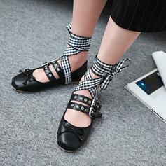 Femmes Similicuir Talon plat Chaussures plates avec Boucle chaussures