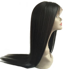 4A Non remy Straight Human Hair Lace Front Wigs 300g