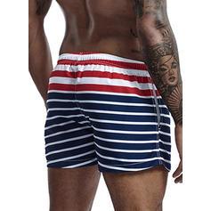 Men's Stripe Swim Trunks