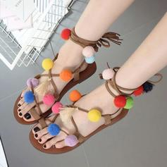 Women's PU Flat Heel Sandals With Others shoes