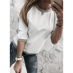 Lace Sequins Round Neck Long Sleeves T-shirts