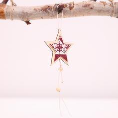 щасливого Різдва Підвішування Stea Дерев'яні Різдвяна кулон Різдвяний декор