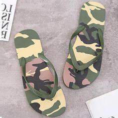Dámské PVC Placatý podpatek Sandály Žabky Pantofle S Barevný blok obuv