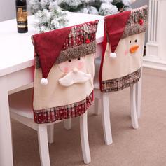 щасливого Різдва Сніговик Санта Неткане полотно Кришка крісла