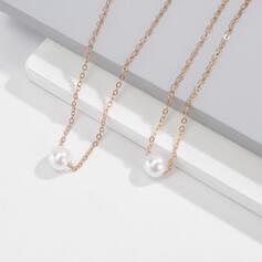 合金 模造真珠 とともに イミテーションパール 婦人向け レディース ' ネックレス ブレスレット 2個