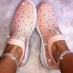 De mujer Tela Casual al aire libre con Rhinestone zapatos