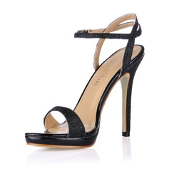 Donna Similpelle Tacco a spillo Sandalo Con cinturino scarpe