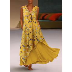 Print/Floral Sleeveless Shift Maxi Casual/Vacation Dresses