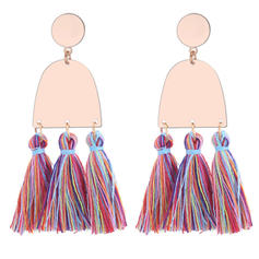À la mode Cuivre Dames Boucles d'oreille de mode