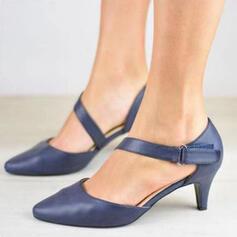 Femmes PU Talon stiletto Escarpins Bout fermé avec Boucle Ouvertes chaussures