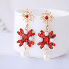 Fashionable Alloy Resin Imitation Pearls With Imitation Pearl Women's Fashion Earrings (Set of 2)