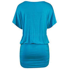 Solid Short Sleeves Bodycon Above Knee Casual/Vacation Dresses